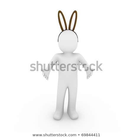3D · faible · personnes · Pâques · panier · œufs · de · Pâques - photo stock © dariusl
