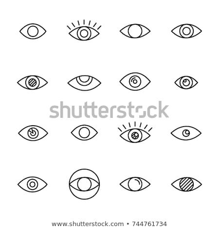 Oeil icône illustration signe design style Photo stock © kiddaikiddee