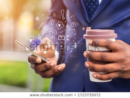 smartphone · toepassing · iconen · software · computer · internet - stockfoto © wavebreak_media