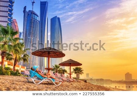 Woman on gulf beach in Dubai UAE Stock photo © Kzenon