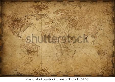 антикварная · глобусы · два · карта - Сток-фото © zven0