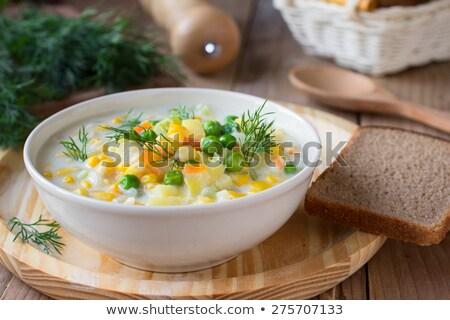 broccoli · zucchine · zuppa · crema · prezzemolo - foto d'archivio © zhekos