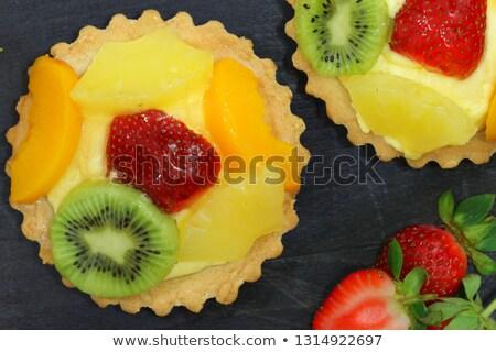 Frutta crema pasticcera crostata dessert piccolo frutta fresca Foto d'archivio © Digifoodstock