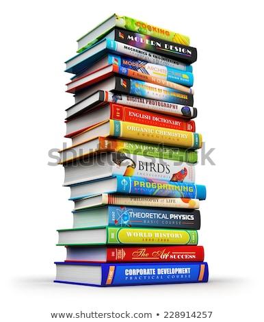красочный книга в твердой обложке книгах зеленый Сток-фото © ozgur