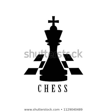 xadrez · preto · e · branco · outro · peças · de · xadrez · preto · poder - foto stock © cosma