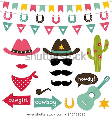 ragazza · cappello · da · cowboy · giovani · esterna · sexy · moda - foto d'archivio © artfotodima