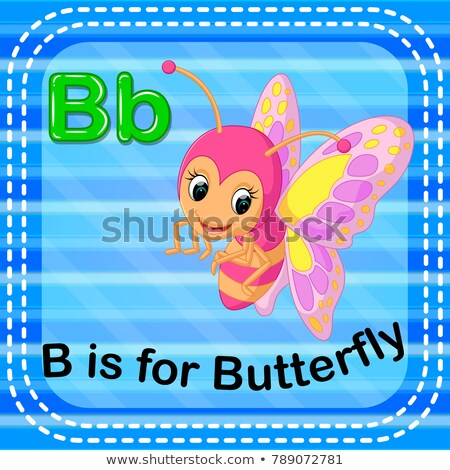 Flashcard letter B is for butterfly Stock photo © bluering