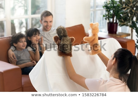 Children playing puppet together Stock photo © bluering
