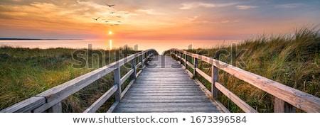 Stock fotó: Móló · tenger · beton · kék · ég · felhők · természet