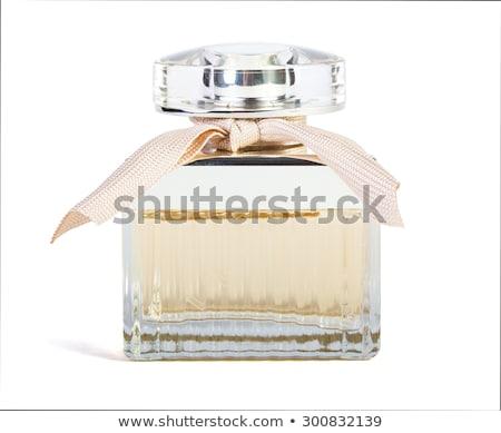 Perfume hermosa botella oscuro terciopelo primer plano Foto stock © saharosa