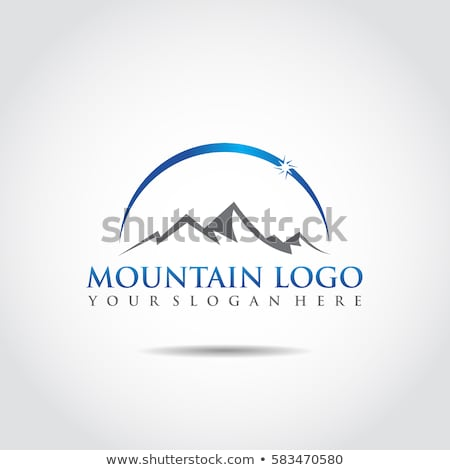 Foto stock: Montanhas · logotipo · modelo · mapa · paisagem · neve