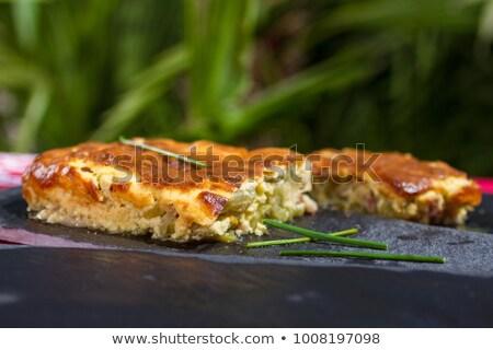 Courgette alimentaire fond crème repas herbe Photo stock © M-studio
