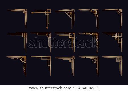 Gouden grens ontwerp trillend detail bloemen Stockfoto © hpkalyani