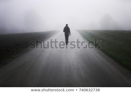 дороги · темно · мрачный · закат · природы - Сток-фото © iko