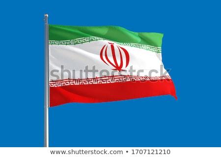 İran bayrak İran kırmızı beyaz yeşil Stok fotoğraf © Bigalbaloo