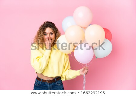 Girl with blond hair with many facial expressions Stock photo © bluering