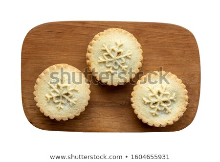 christmas mince pies overhead stock photo © frannyanne