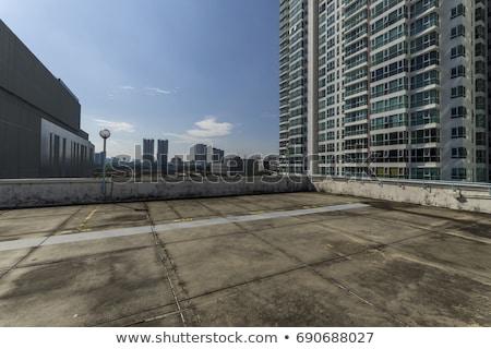 商業ビル いい 屋上 白 家 建物 ストックフォト © bluering