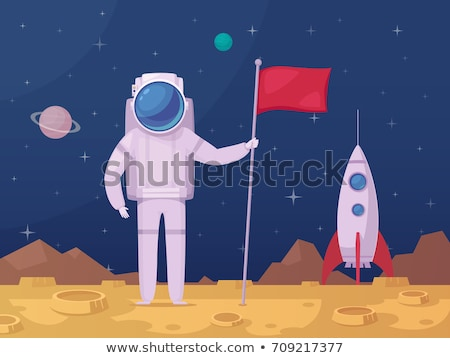 A man at the outerspace Stock photo © bluering