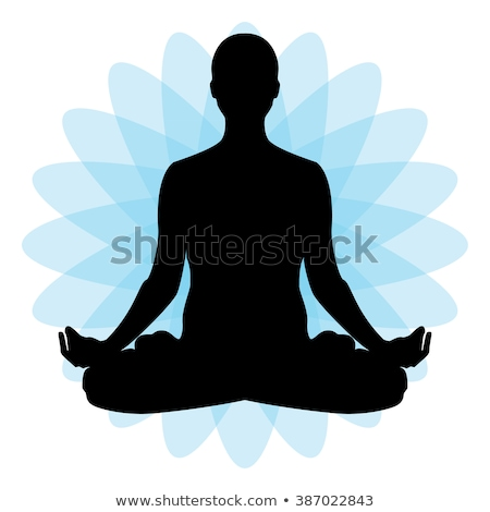 Stockfoto: Man · mediteren · lotus · pose · asian · jonge · man