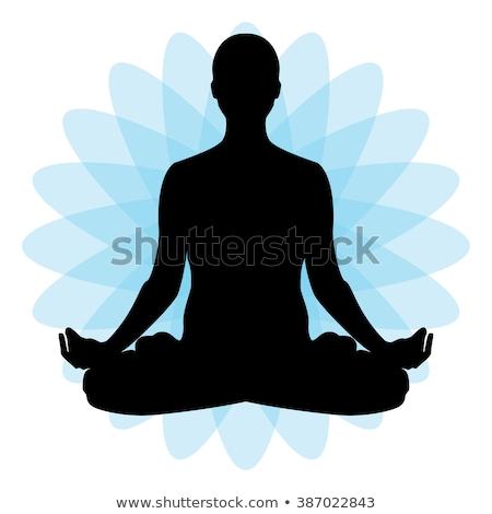 yoga · Lotus · posent · exercice · méditation - photo stock © rastudio