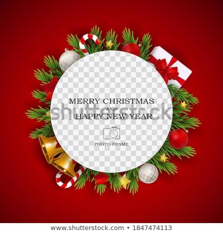 Natale vuota photo frame biglietto d'auguri cute Foto d'archivio © marimorena