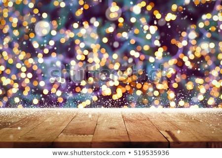 purple christmas lights background stock photo © derocz