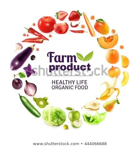 eco · gıda · poster · dekoratif · çerçeve - stok fotoğraf © teirin_toys