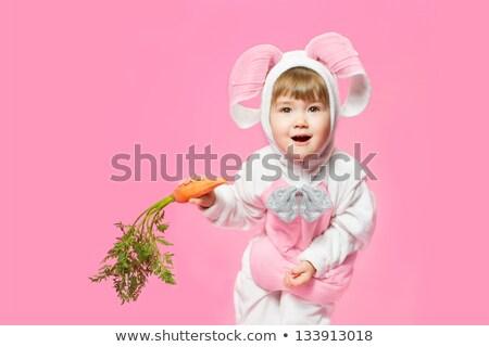 Stok fotoğraf: çocuk · tavşan · kostüm · havuç · örnek