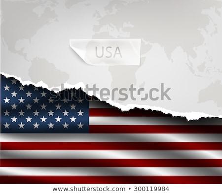 terv · zászló · szakadt · papírok · árnyékok · textúra - stock fotó © Panaceadoll