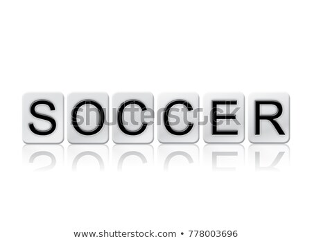 sports isolated tiled letters concept and theme stock photo © enterlinedesign