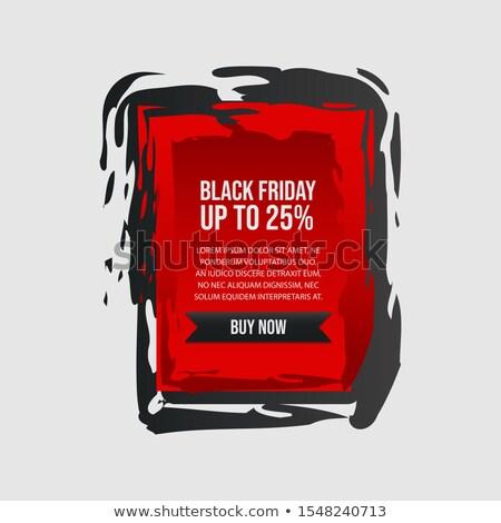 élégant black friday vente étiquette grunge style Photo stock © SArts