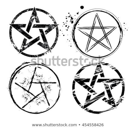 set of painted pentagrams Stock photo © blackmoon979