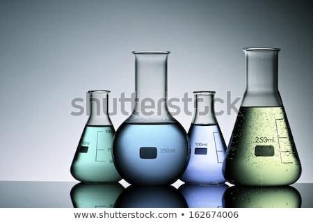 izolált · illusztráció · kémia · főzőpohár · megoldás · üveg - stock fotó © bluering
