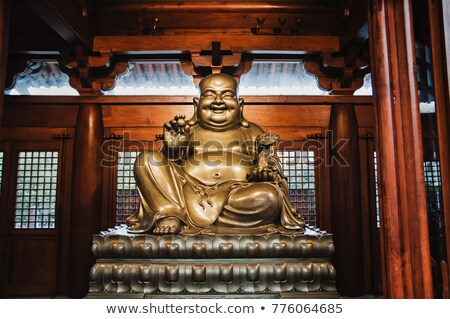 Souriant buddha sculpture sourire oeil visage Photo stock © bbbar