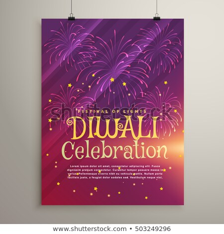 amazing purple background with fireworks for diwali festival Stock photo © SArts