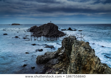 Rocky coastline of Tabarca Island. Spain Stock photo © amok