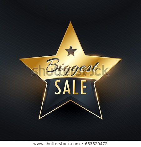 biggest sale premium golden badge and label vector design stock photo © sarts
