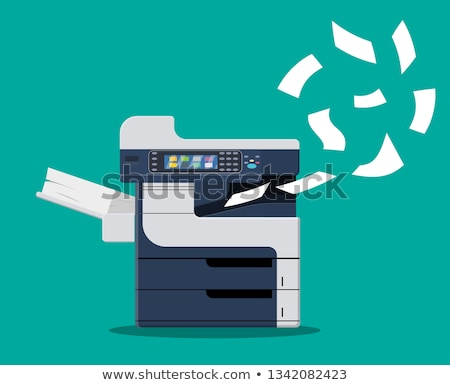 printer vector illustration in flat style design stock photo © robuart