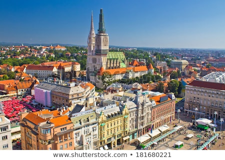 Panoramic view of the Upper Town in Zagreb Stock photo © smuki