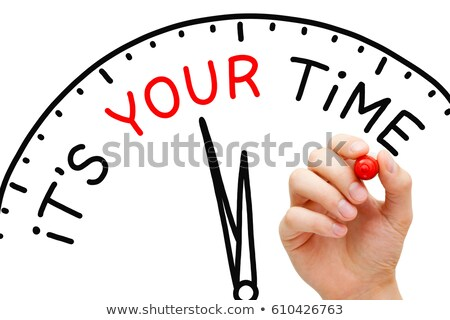 Stock photo: It Is Your Time Clock Concept