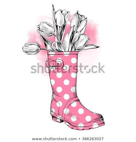 Rain boot With Tulip Stock photo © adamson