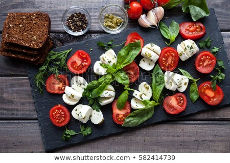 Insalata caprese pane dettaglio fresche formaggio insalata Foto d'archivio © Digifoodstock