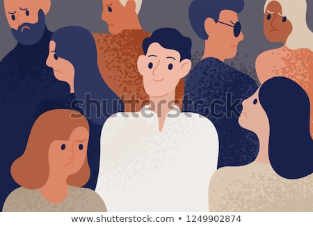 Young Man in Depression Flat Vector Illustration Stock photo © robuart