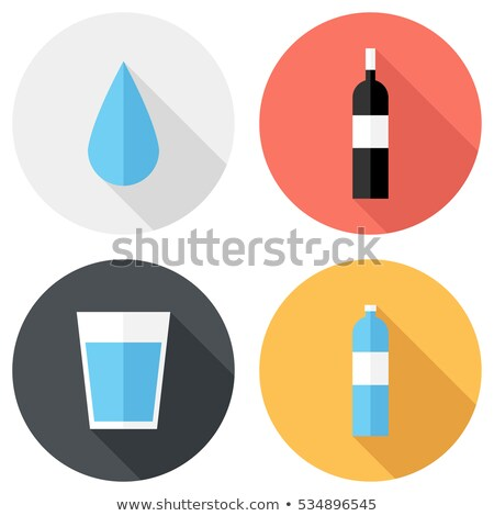 Stock photo: Drinking Clean Water Vector Flat Style Concept