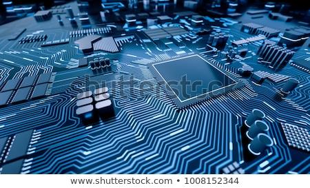 computador · processador · lasca · cabo · arame · símbolo - foto stock © kayros