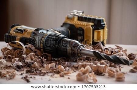 öreg · famunka · szerszámok · felső · kilátás · fából · készült - stock fotó © shutter5