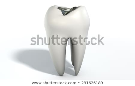 Tooth With Lead Filling Stock photo © albund