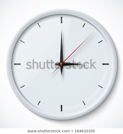 Vector of chrome wall clock Stock photo © igorlale
