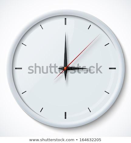 vector of chrome wall clock stock photo © igorlale